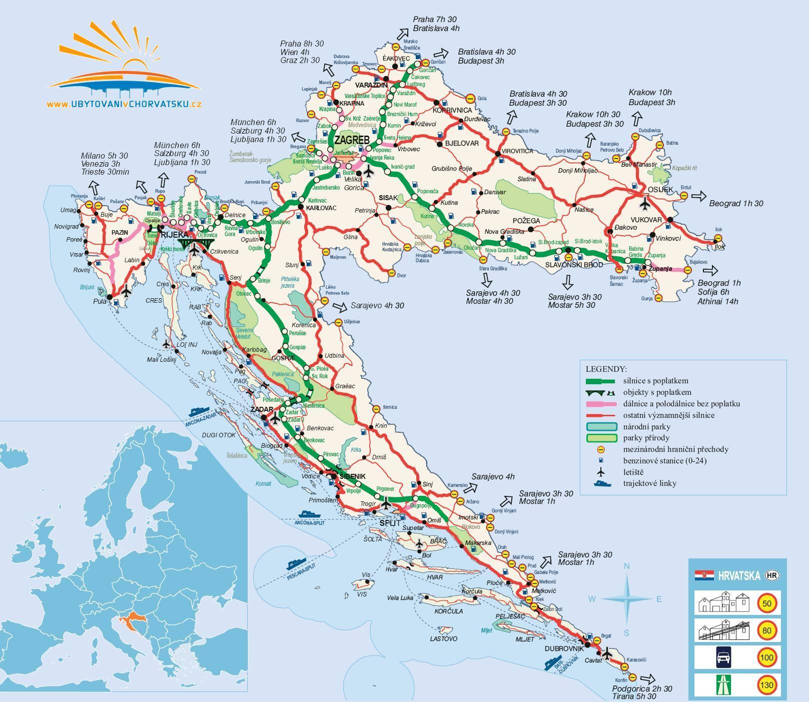 dalmacija mapa NAMESTITEV HRVAŠKA | apartmaji Hrvaška 2018 dalmacija mapa
